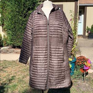 L.L. BEAN Ultralight 850 Down Sweater Coat Gray